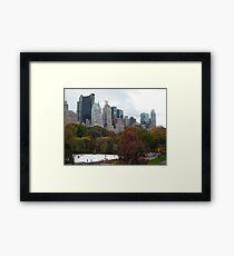 NY November Wollman Rink, Central Park, Fall Foliage Framed Print