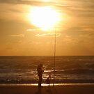 Fishing at Sunset II by Samantha Higgs
