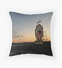 February Jersey City, New Jersey, Classic Colgate Clock at Sunset  Throw Pillow
