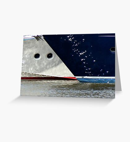 low part of the boats-shimmers reflected Greeting Card