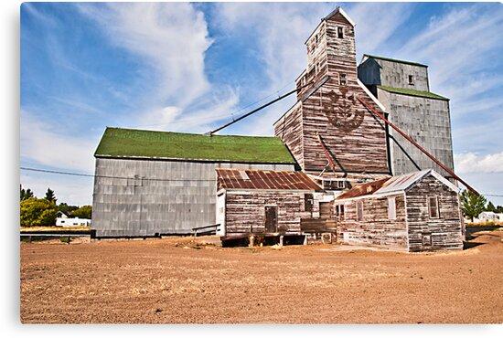 GTA Elevator, Flaxville, Montana, USA by Bryan D. Spellman