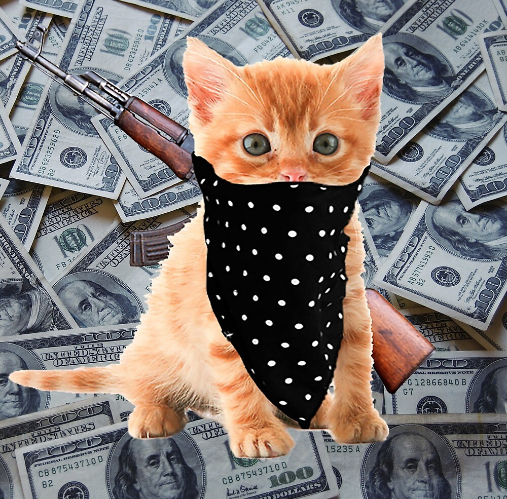 Gangsta Kitty by dmorissette