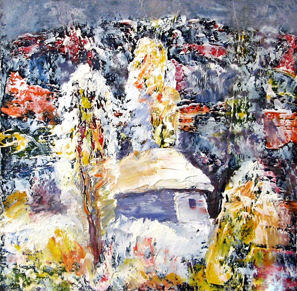 Winter Story - Oil Painting (Landscape) 1985 by Andrei Mundrea