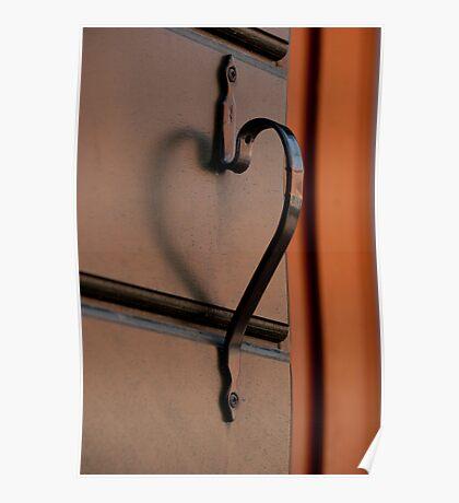 A Doorknob That Has A Heart Poster