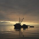 Sunset on Strait of Georgia by Shubd