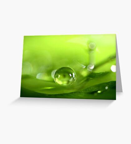Pea Green Greeting Card