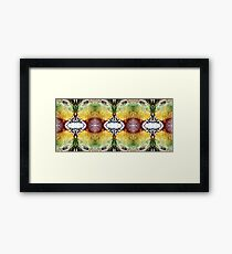 plastic colour swirls and swirls Framed Print
