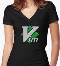 VIM Women's Fitted V-Neck T-Shirt