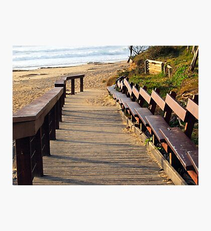 Boardwalk to Dicky Beach   Photographic Print