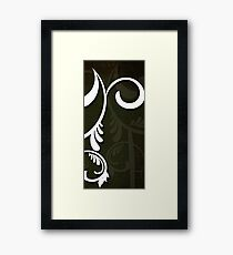 White Graphics 2 Framed Print