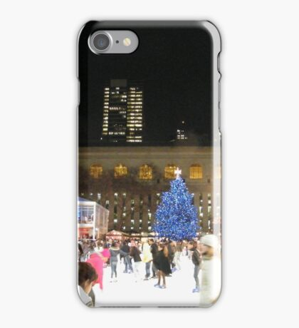 Bryant Park Skating Rink, New York  iPhone Case/Skin