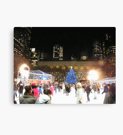 Bryant Park Skating Rink, New York  Canvas Print