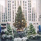 Rockefeller Center Holiday Tree and Decorations Under A Light Snow, New York by lenspiro