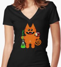 KAT 6 (With a little pec of poison!) Women's Fitted V-Neck T-Shirt