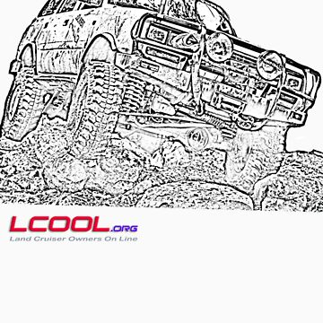 Landcruiser Line drawing by NemesisGear