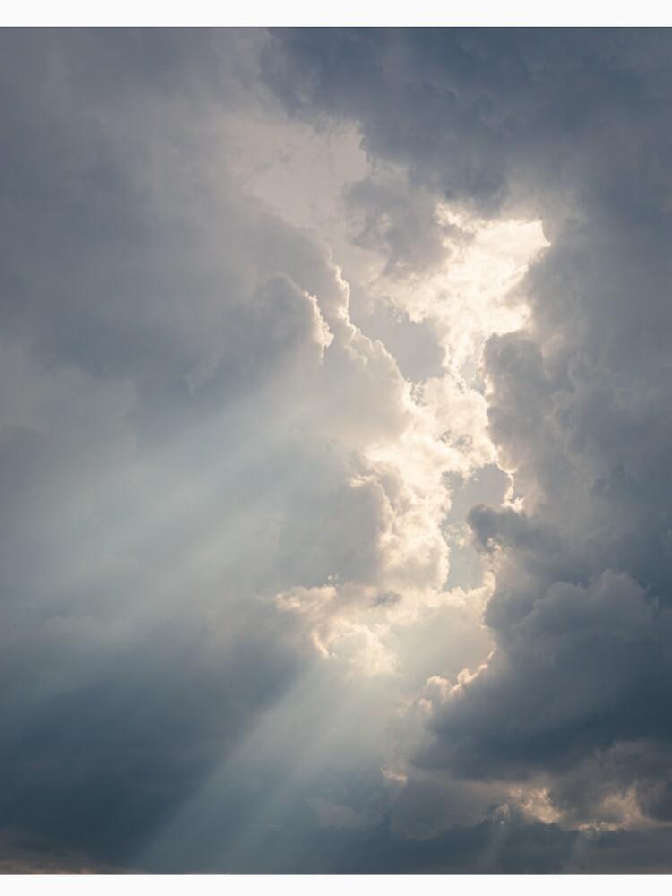 Sunbeam between storm clouds cloudscape by Juhku