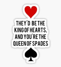 King of Hearts and Queen of Spades Sticker