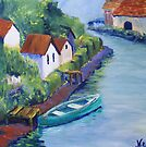 Along the Canal (Acrylic) by Niki Hilsabeck