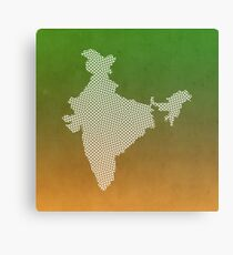 India abstract geometric pattern map Canvas Print