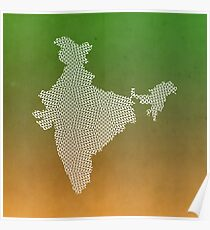 India abstract geometric pattern map Poster