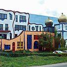 Hundertwasser house in Goor - the Netherlands by Arie Koene