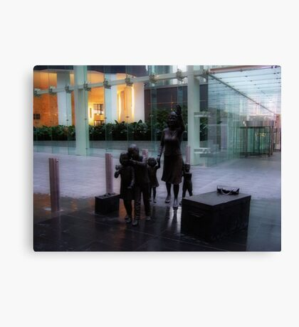 The Reuniting Family Canvas Print