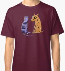 Opposites Attract Cat and Dog Classic T-Shirt