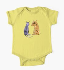 Opposites Attract Cat and Dog One Piece - Short Sleeve