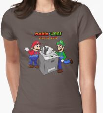 Mario and Luigi Paper Jam Women's Fitted T-Shirt