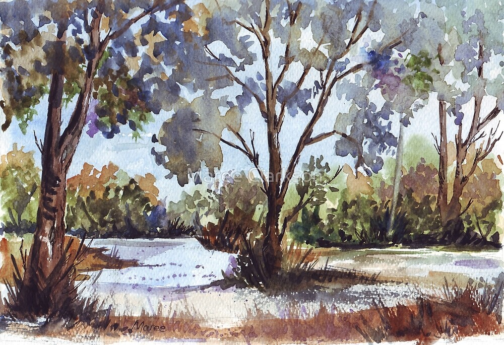 Bluegums. The first light of day by Maree Clarkson