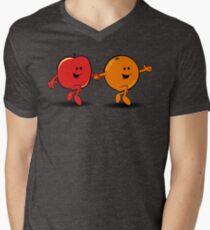 Apples and Oranges Men's V-Neck T-Shirt