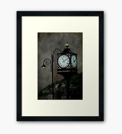 Lighting up Time Framed Print
