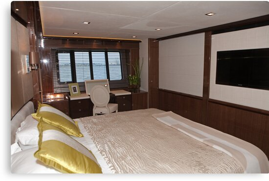 Princess 98 motor yacht suite at the Southampton boat show 2011 by Keith Larby