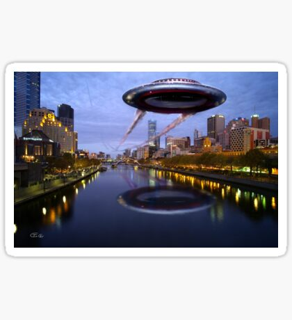 UFO Melbourne Sticker