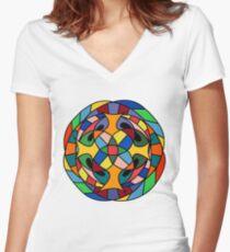 Mandala Women's Fitted V-Neck T-Shirt