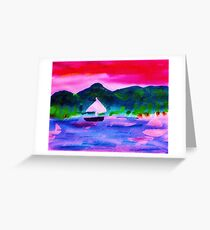 Who would want to leave this,  watercolor Greeting Card