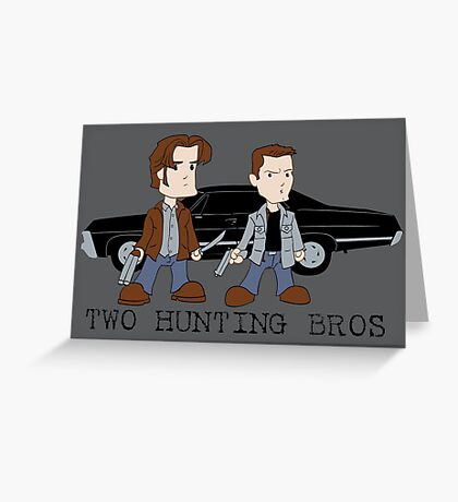 Two Hunting Bros Greeting Card