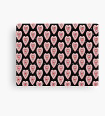 Ben's Hearts Pattern Canvas Print