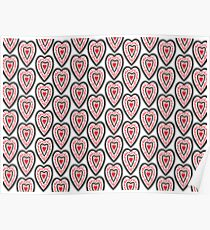 Ben's Hearts Pattern Poster