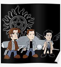 Sam, Dean, Castiel Poster