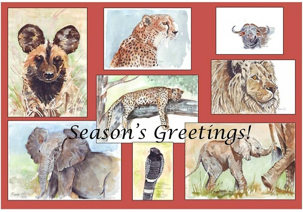 Season's Greetings from Africa by Maree Clarkson