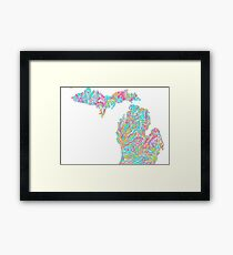 Lilly States - Michigan Framed Print