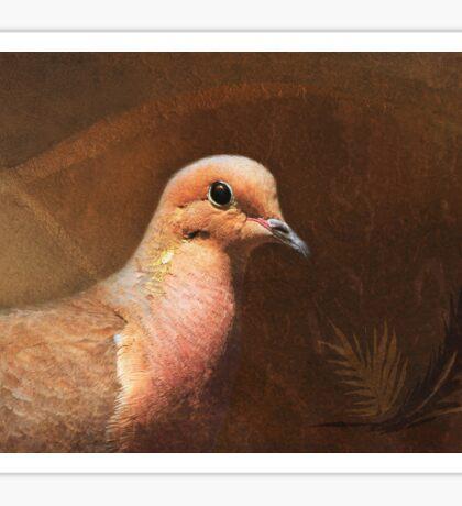 Portrait of a Dove Sticker