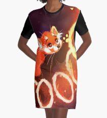 Panda rouge Robe t-shirt