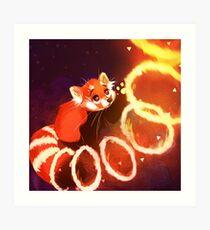 Lámina artística Panda rojo