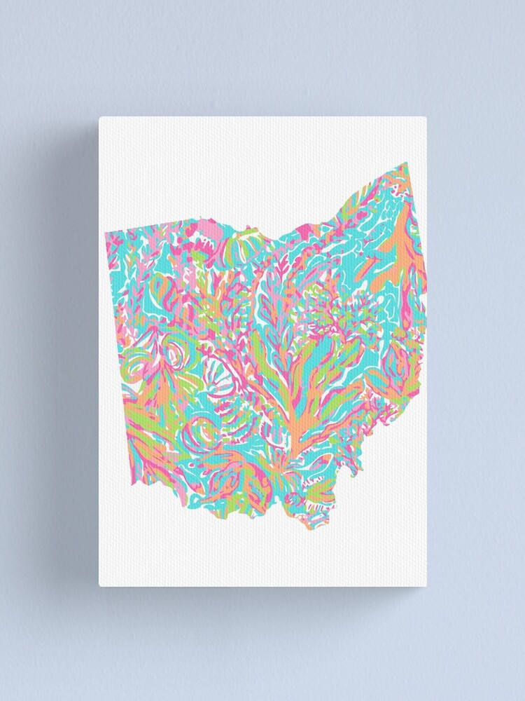 Alternate view of Lilly States - Ohio Canvas Print