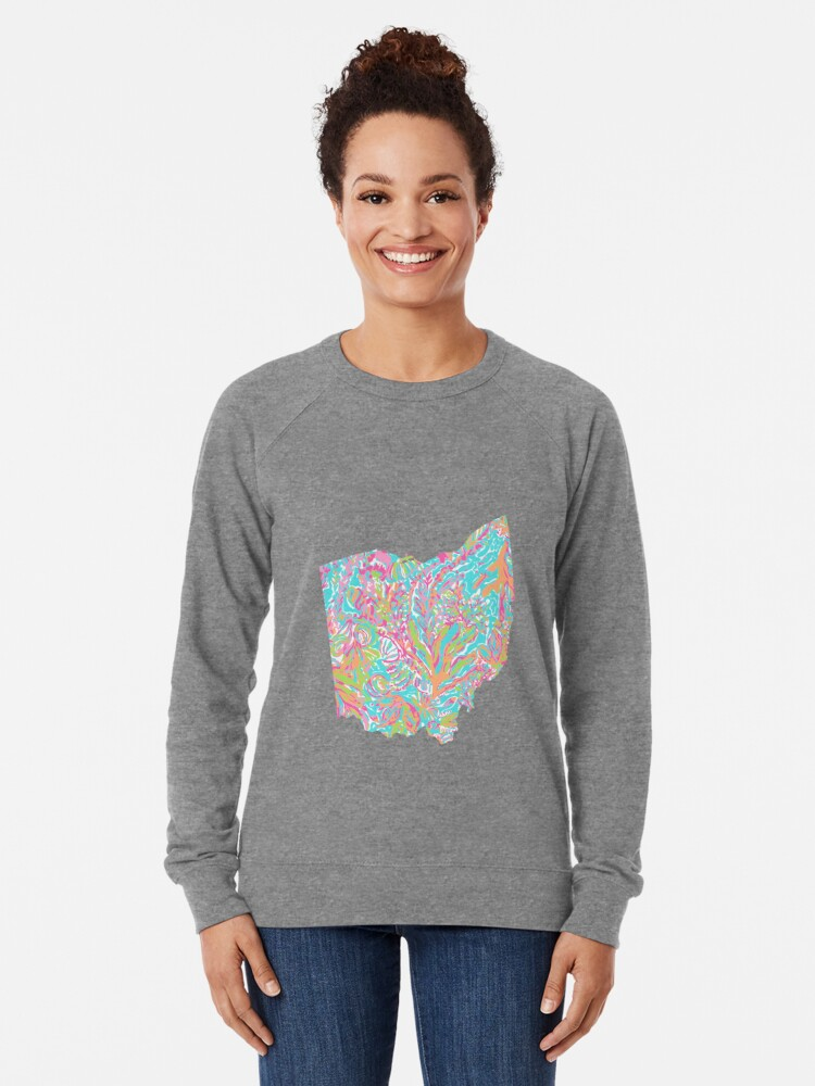 Alternate view of Lilly States - Ohio Lightweight Sweatshirt