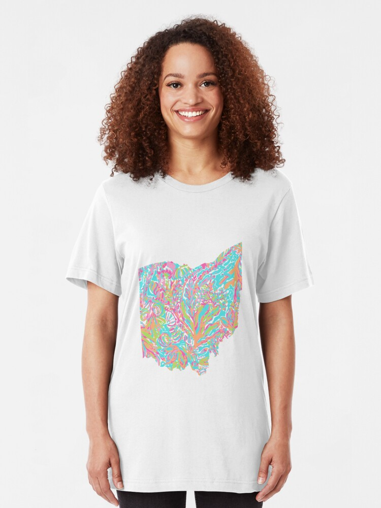 Alternate view of Lilly States - Ohio Slim Fit T-Shirt