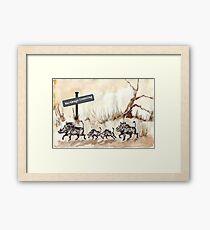 Warthogs Crossing Framed Print