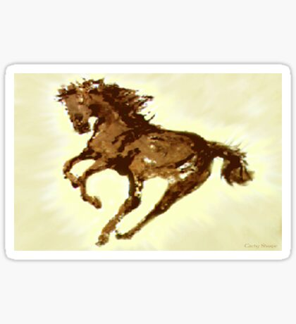 Running Wild Horse  Sticker